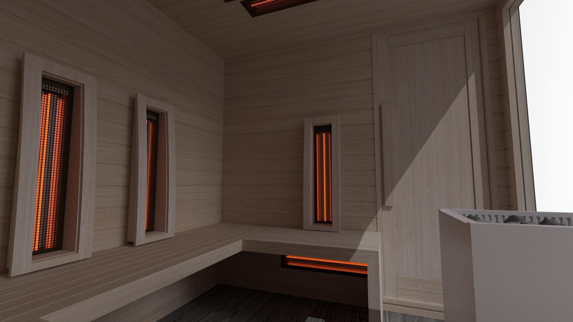 INUA Baldur Vitarium 2 – combined sauna-kombinierte Sauna