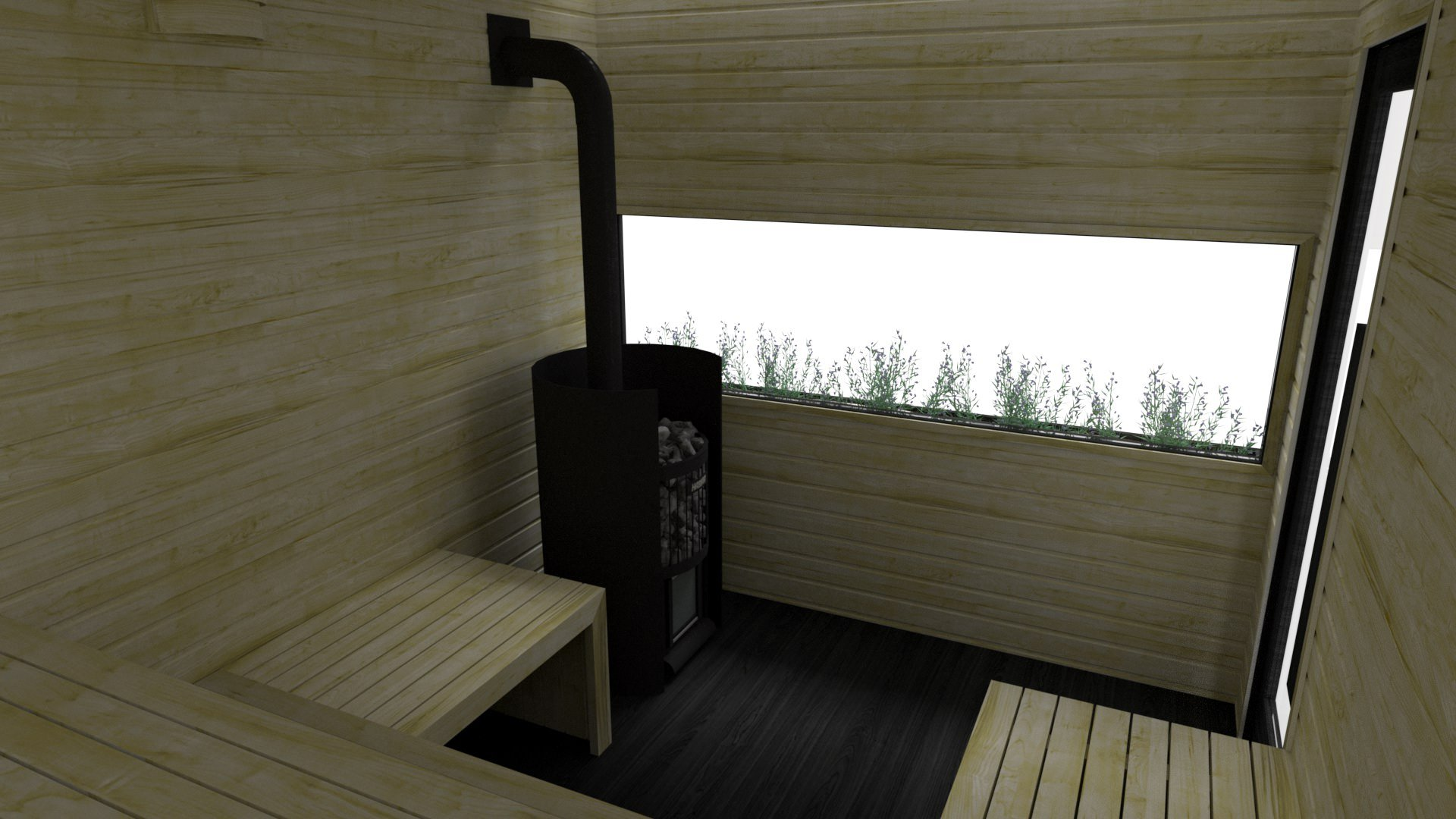INUA Jord Sauna – wooden heater 2