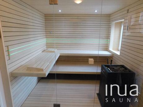 INUA_indendørs_sauna_med_dampenhed_Harvia_Virta_Albbruck_Tyskland_1