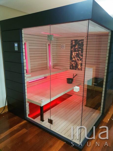 INUA_kombi_sauna_infrarød_og_finsk_sauna_Vigo_Spanien_1