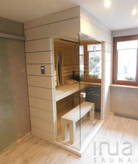 INUA_kombi_sauna_infrarød_sauna_og_finsk_sauna_Leymen_Frankrig_1