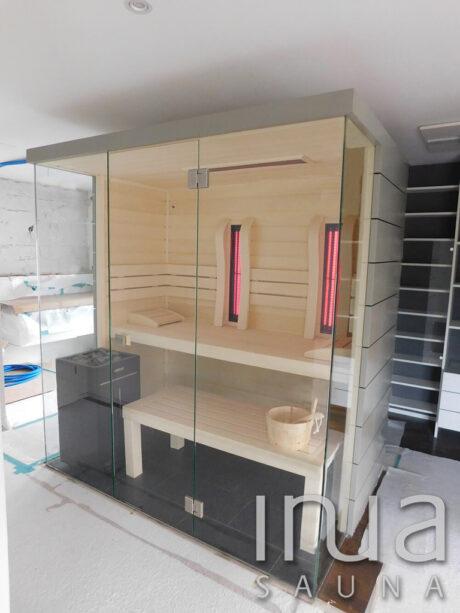 INUA_kombi_sauna_infrarød_sauna_og_finsk_sauna_vitarium_Liestal_Schweiz_1